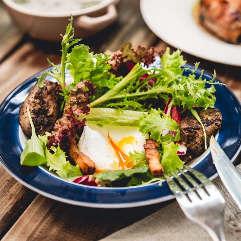 里昂沙拉 Lyon's Salad(因外帶食安考量,外帶無水波蛋)