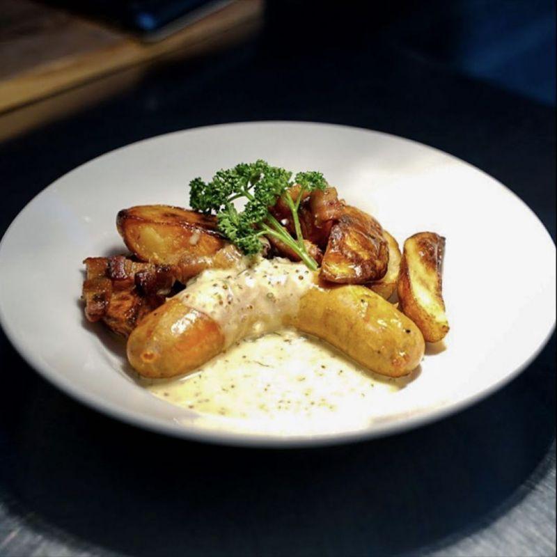 法式龍蒿白酒手工腸&烤珍珠馬鈴薯 Toulouse Sausage&Roasted Potatoes【升級套餐請下拉規格選擇】