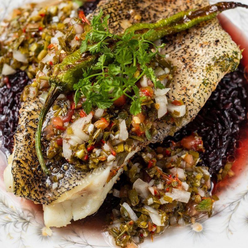 龍虎石斑&狗醬紫米/ Grouper