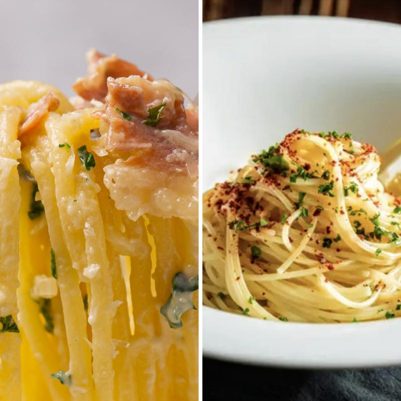 【2人雙麵套餐】藍起司麵+奶油鯷魚麵
