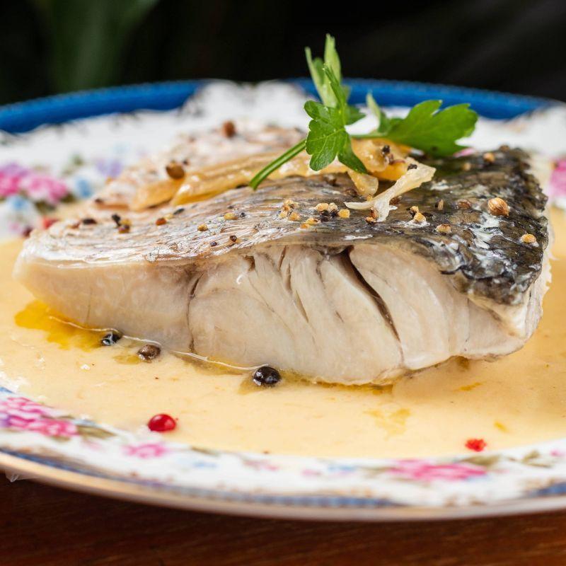 宅配-新鮮鱸魚&法式白酒醬 Sea bass
