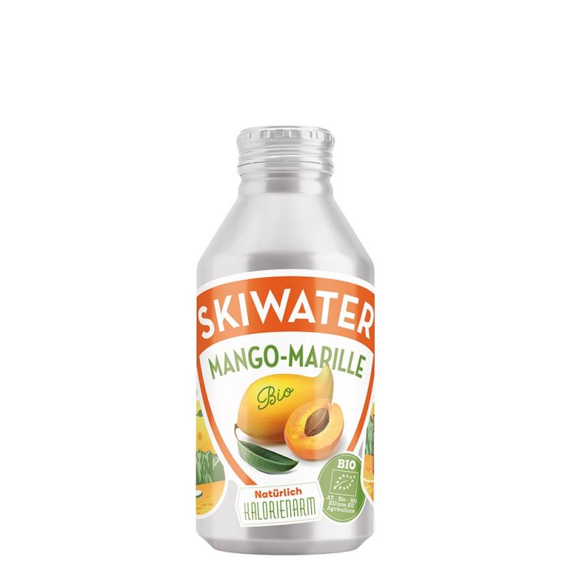 滑雪人鋁罐芒果杏桃氣泡飲