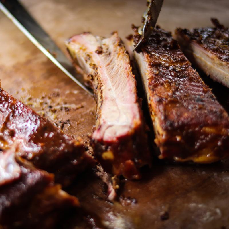 半份煙燻豬肋排+燻烤牛胸肉+牛肋排 /BBQ Pork Ribs + Beef Brisket + Beef ribs