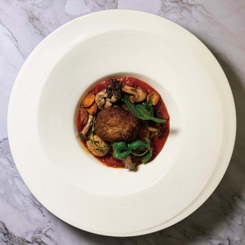 巴沙米克鮮菇佐番茄莎莎 / Champignons sautés au vinaigre balsamique avec salsa aux tomates Balsamic sauteed mushrooms with tomato salsa