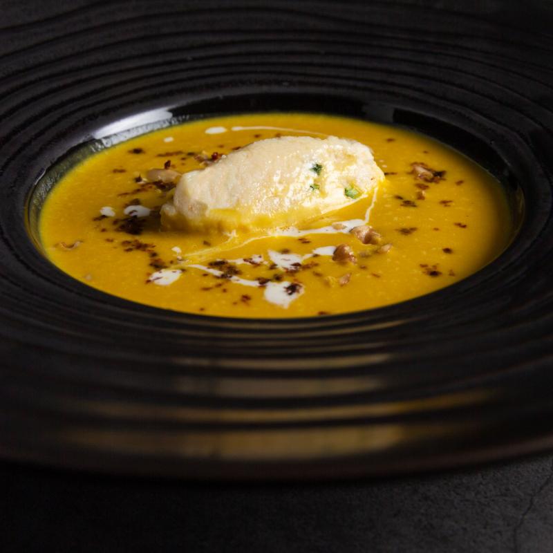 柔滑阿爾卑斯焦糖洋蔥南瓜湯 / Alpes caramalised onion pumpkin soup