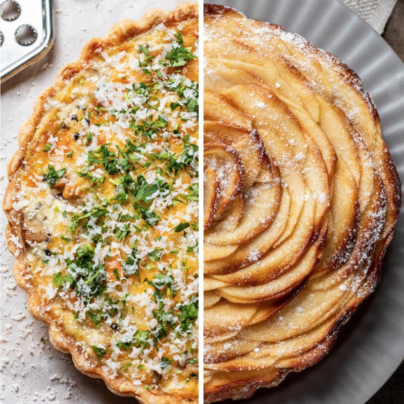 松露菌菇鹹派 + 法式蘋果派